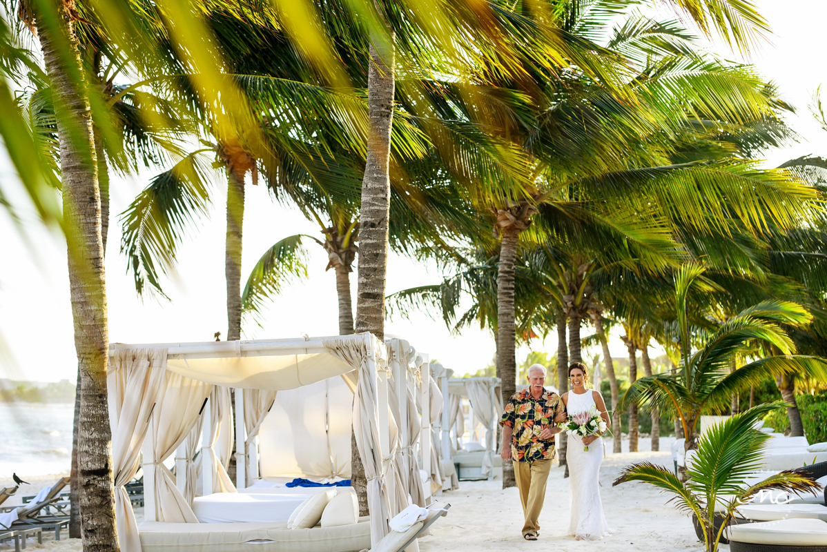 Here comes the bride. Blue Diamond Luxury Boutique Hotel Wedding. Martina Campolo Photography