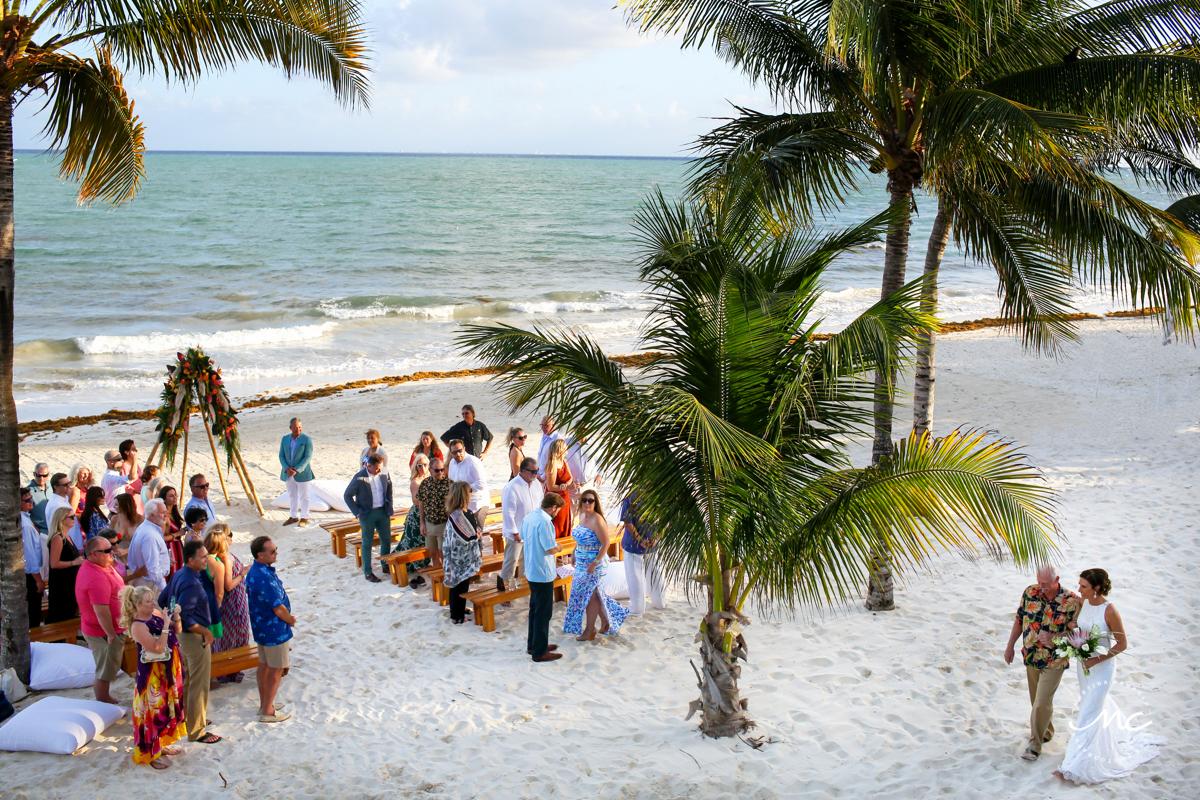 Here comes the bride. Blue Diamond Riviera Maya Wedding Mexico Martina Campolo Photography