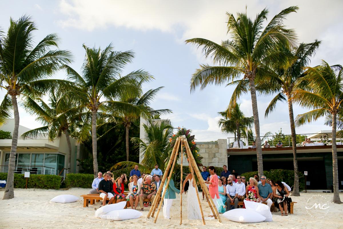 Intimate Blue Diamond Riviera Maya Beach Wedding in Mexico. Martina Campolo Photography