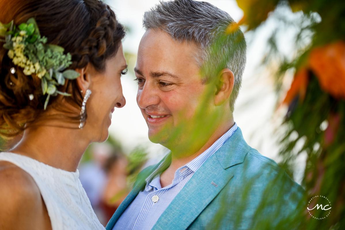 Bride & groom portraits at Blue Diamond Riviera Maya, Mexico. Martina Campolo Photography