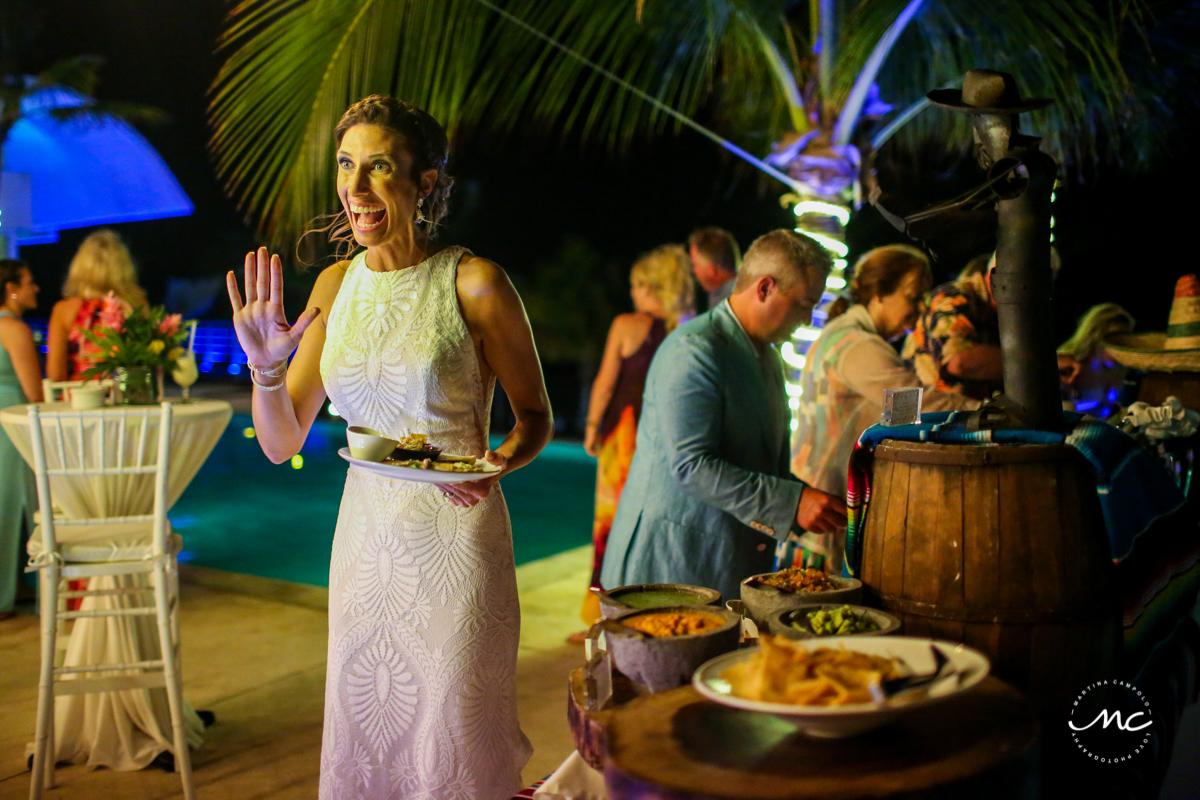 Wedding reception at Blue Diamond Luxury Boutique Hotel, Mexico. Martina Campolo Photography