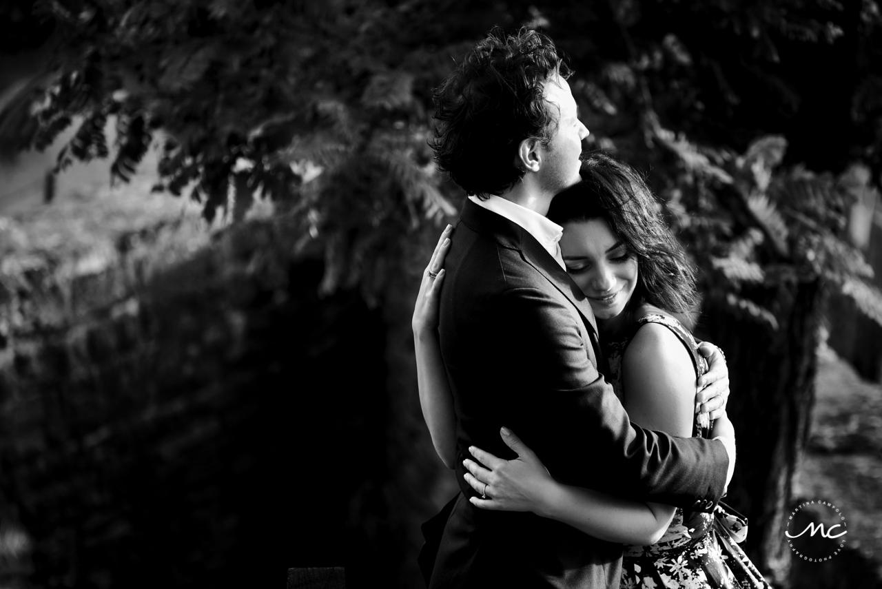 B&N Couples portraits at Castello di Trisobbio Italy. Martina Campolo Photography