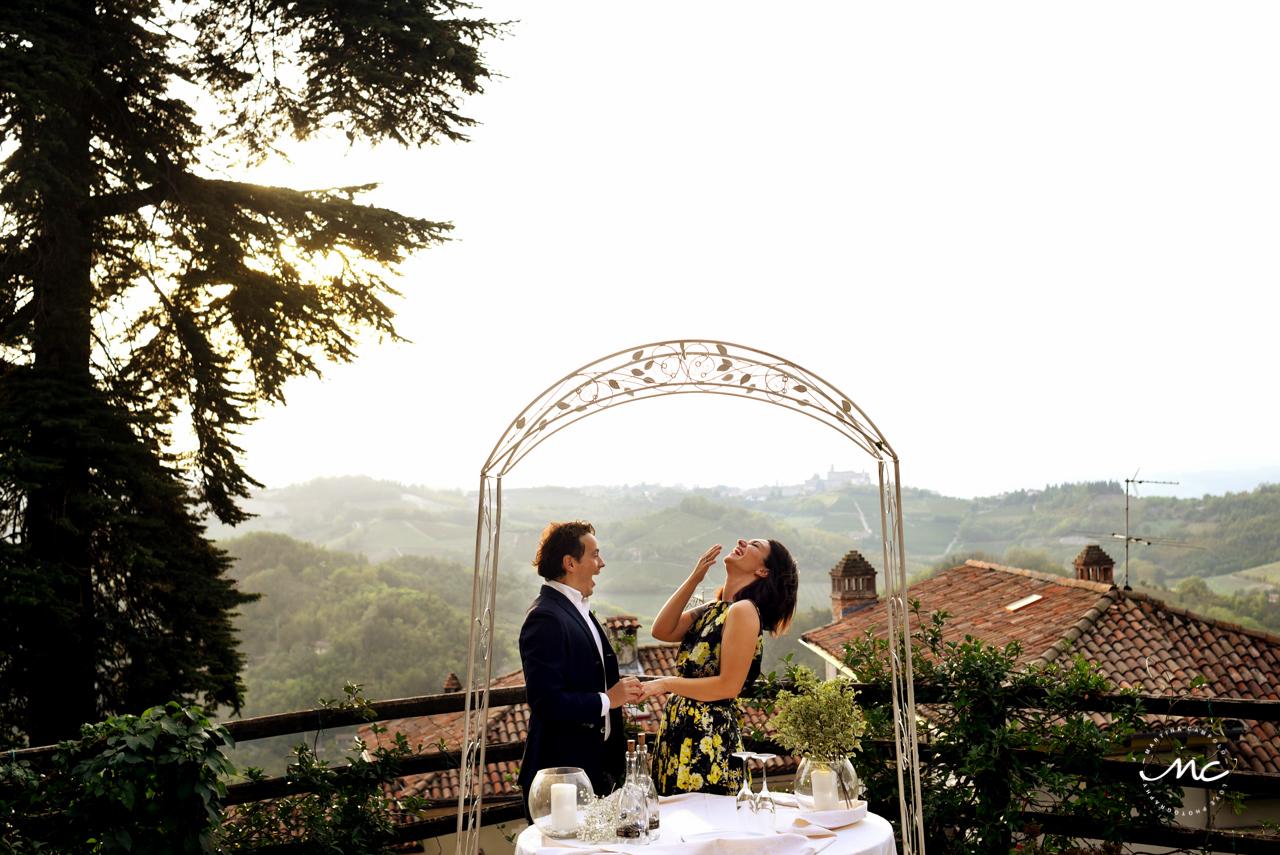 Wedding proposal at Castello di Trisobbio Italy. Martina Campolo Photography