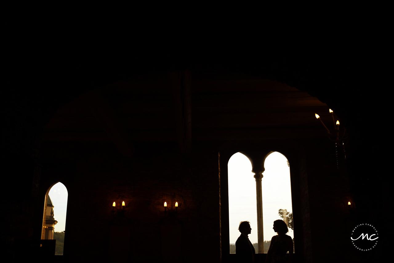 Silhouettes at Castello di Trisobbio Italy. Martina Campolo Photography