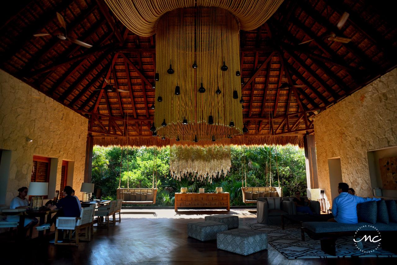 Chable Maroma lobby area in Mexico. Martina Campolo Photography