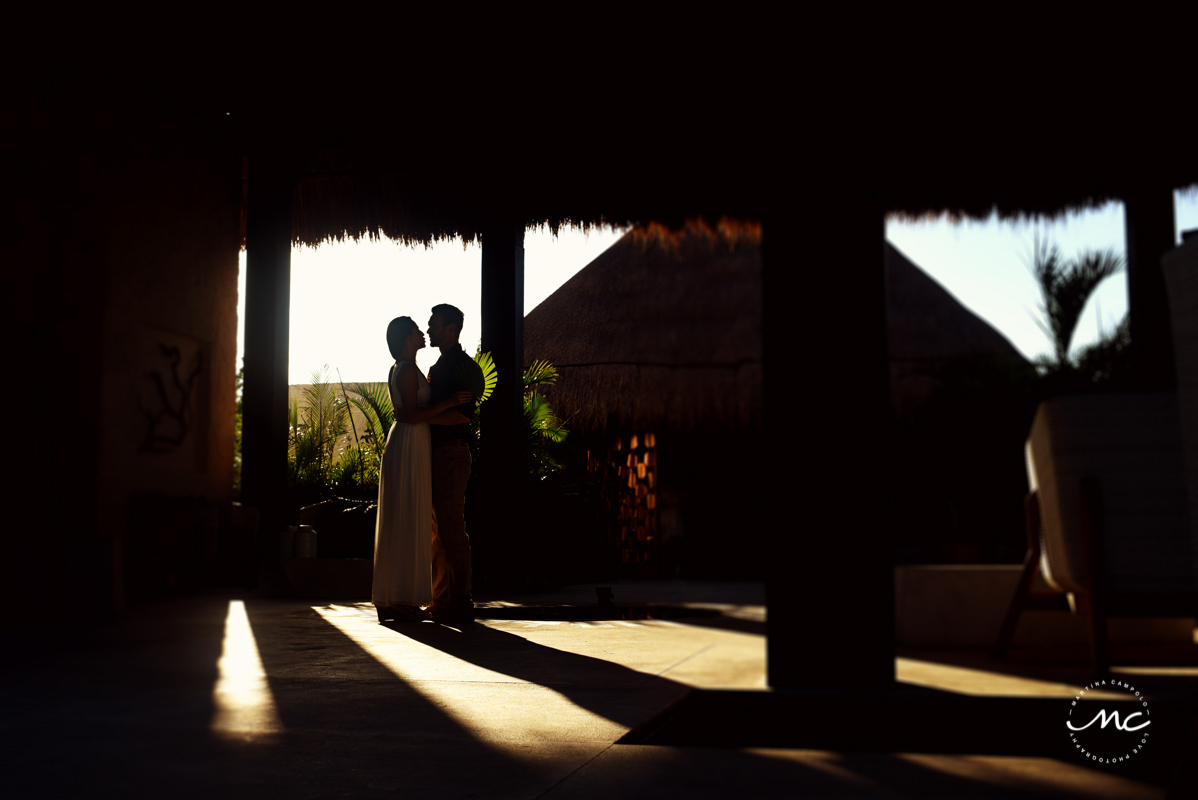 Bride and groom portraits at Chable Maroma, Riviera Maya, Mexico. Martina Campolo Photography