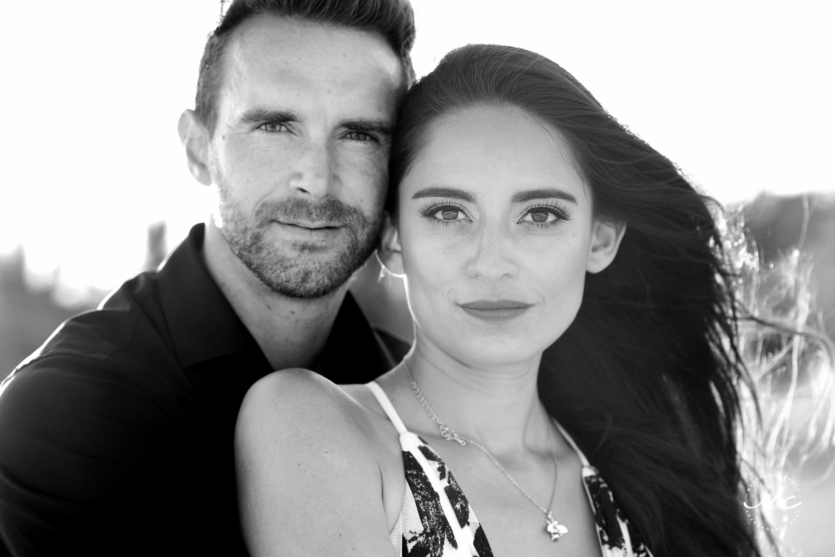 Black and white couples portraits at Chable Maroma, Mexico. Martina Campolo Photography