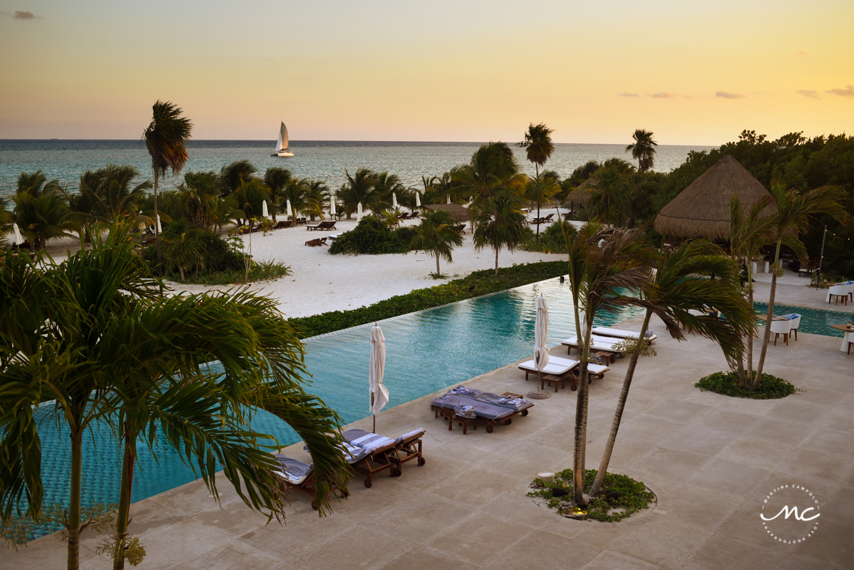 Dreamy sunset views at Chable Maroma, Riviera Maya, Mexico. Martina Campolo Photography