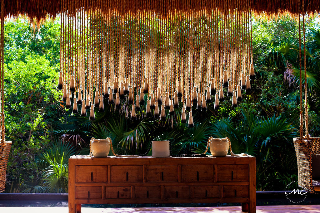 Chable Maroma lobby area, Mexico. Martina Campolo Commercial Photography