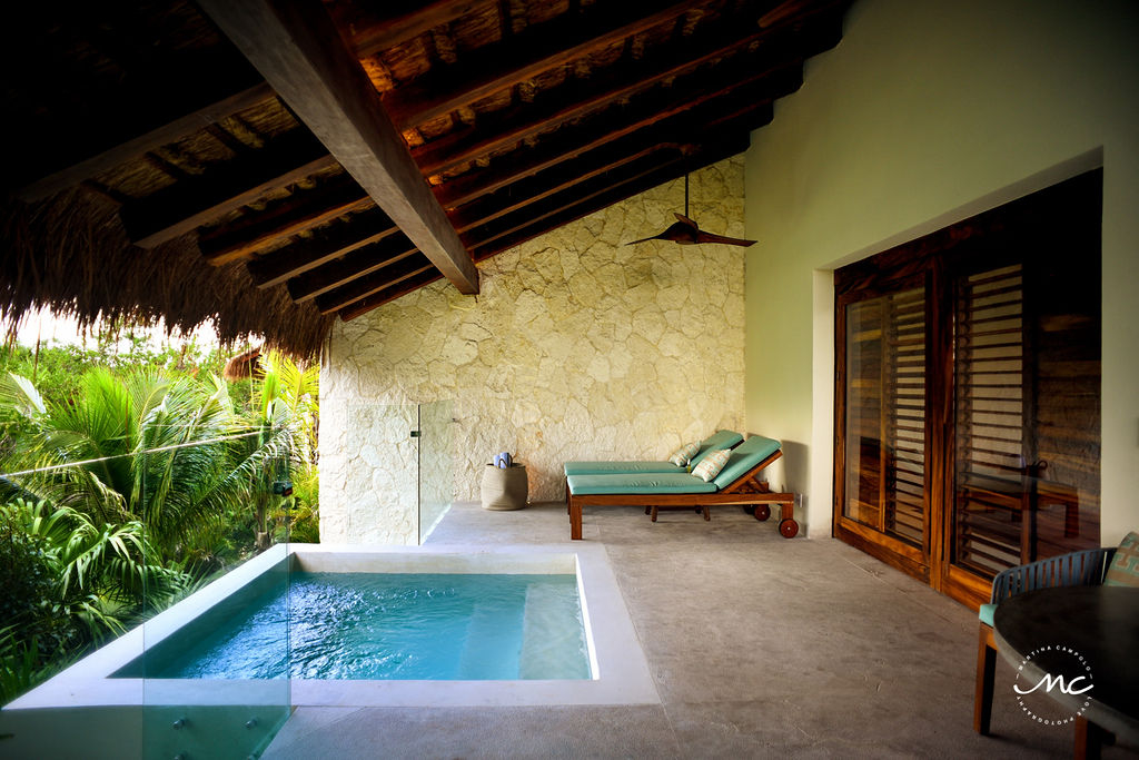 Private pool at Chable Maroma Suites in Mexico. Martina Campolo Photography