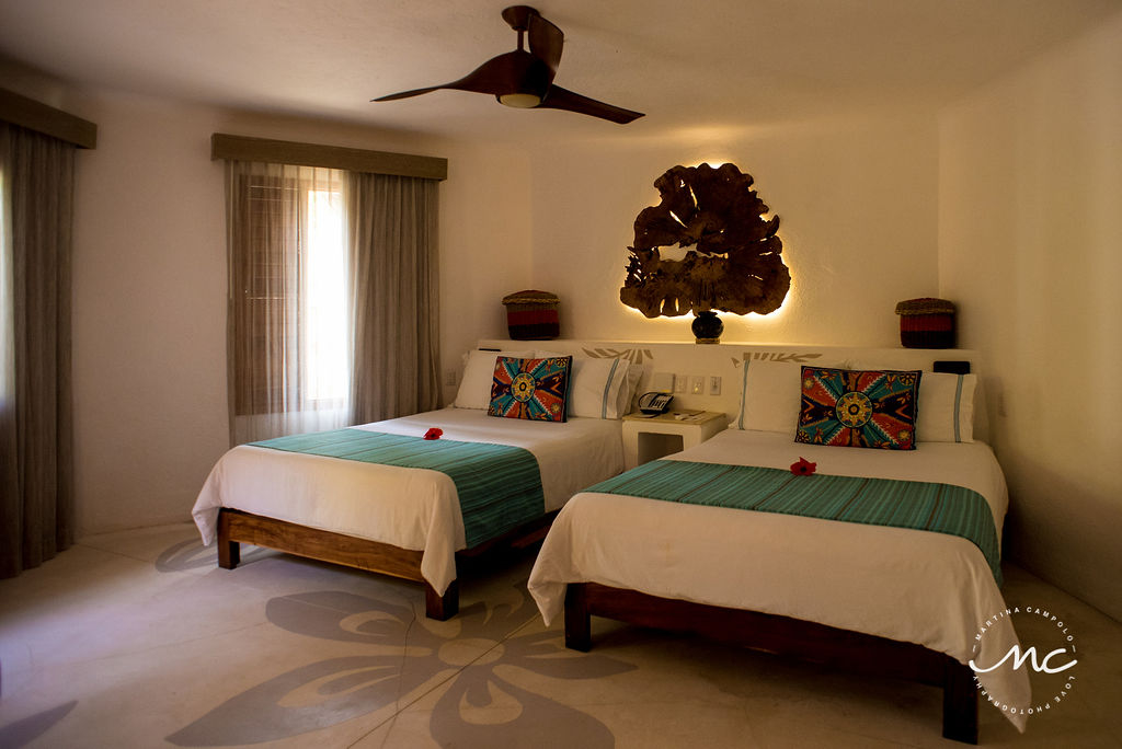 Mahekal Beach Resort Rooms in Playa del Carmen, Mexico. Martina Campolo Photography