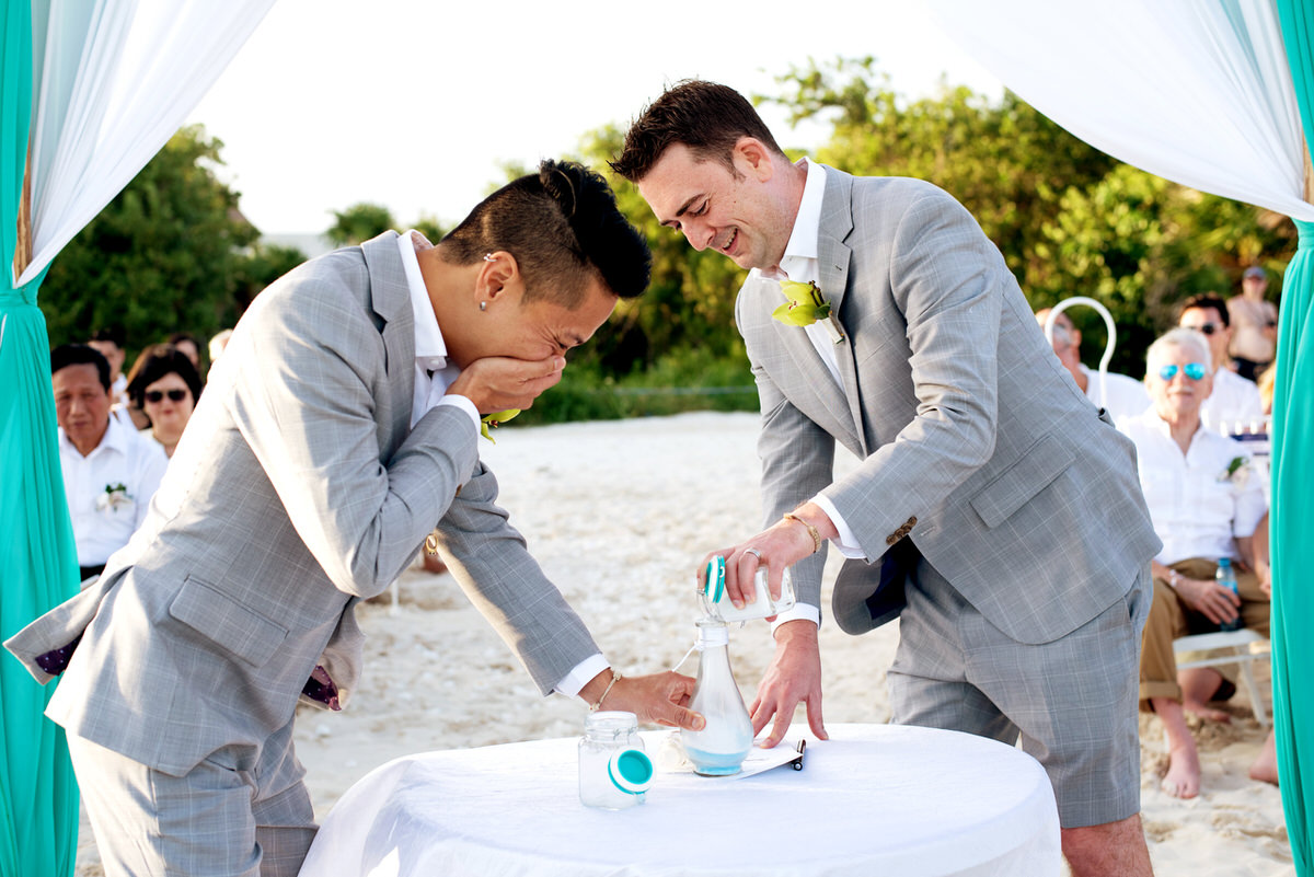 Gay destination wedding in Playa del Carmen by Martina Campolo Photography