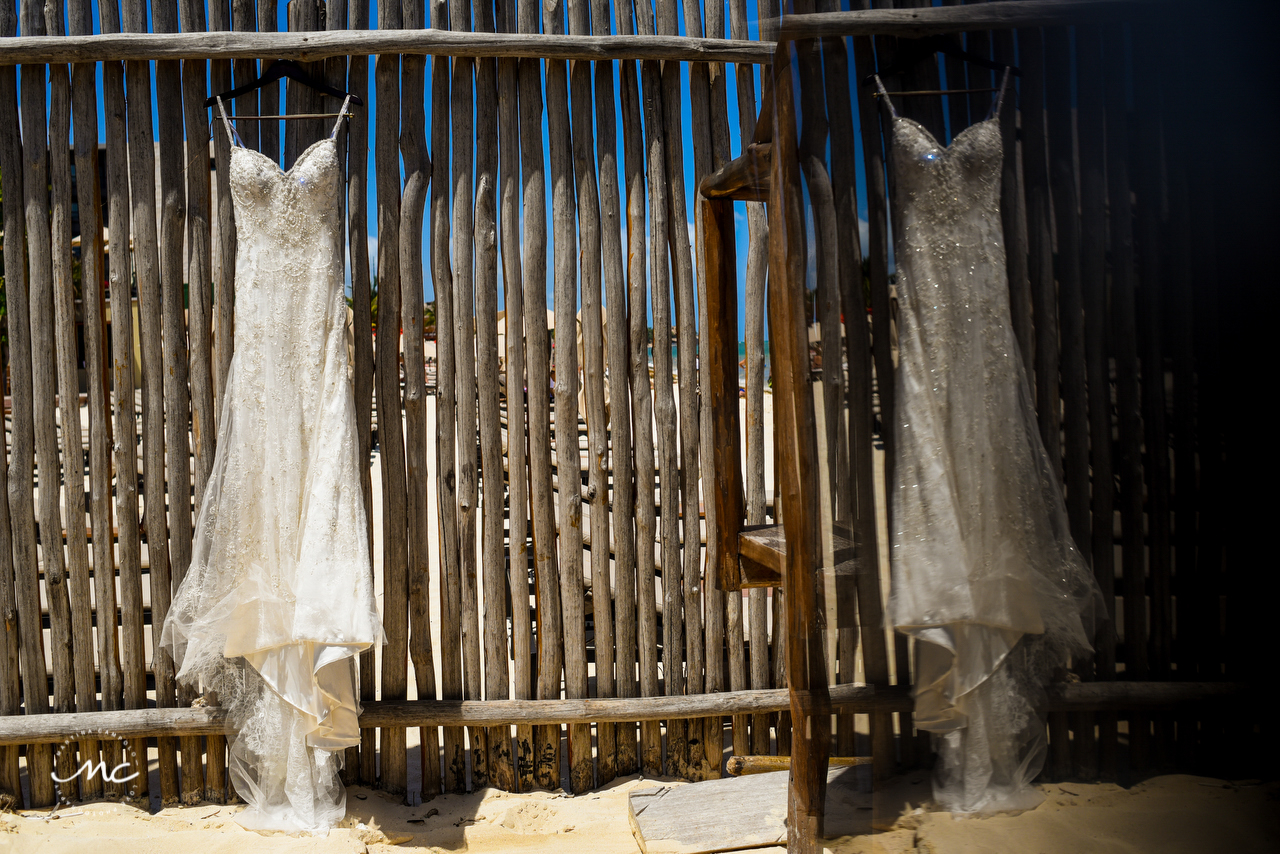 Wedding Dress at The Royal Playa del Carmen, Mexico. Martina Campolo Photography