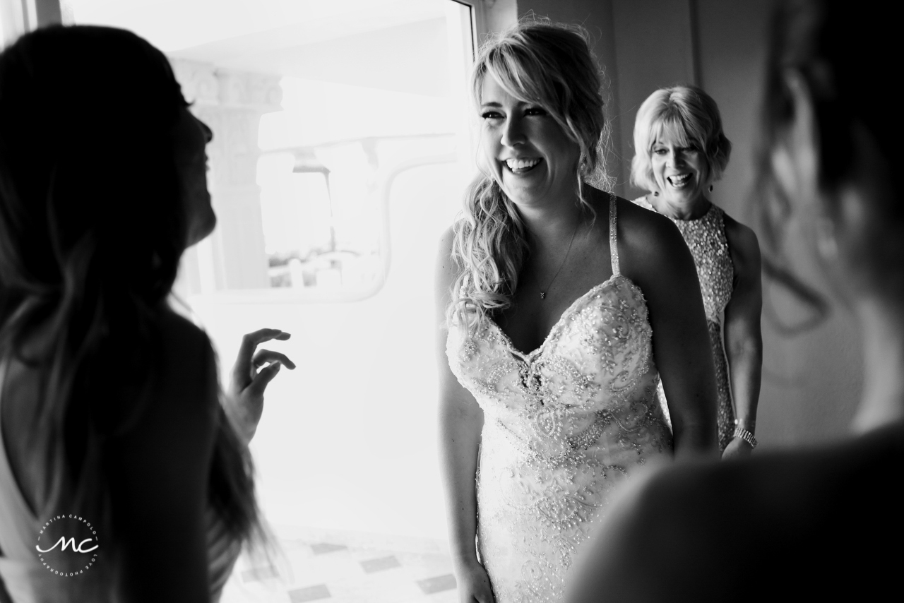 Bride & MOB, The Royal Playa del Carmen Wedding. Martina Campolo Photography