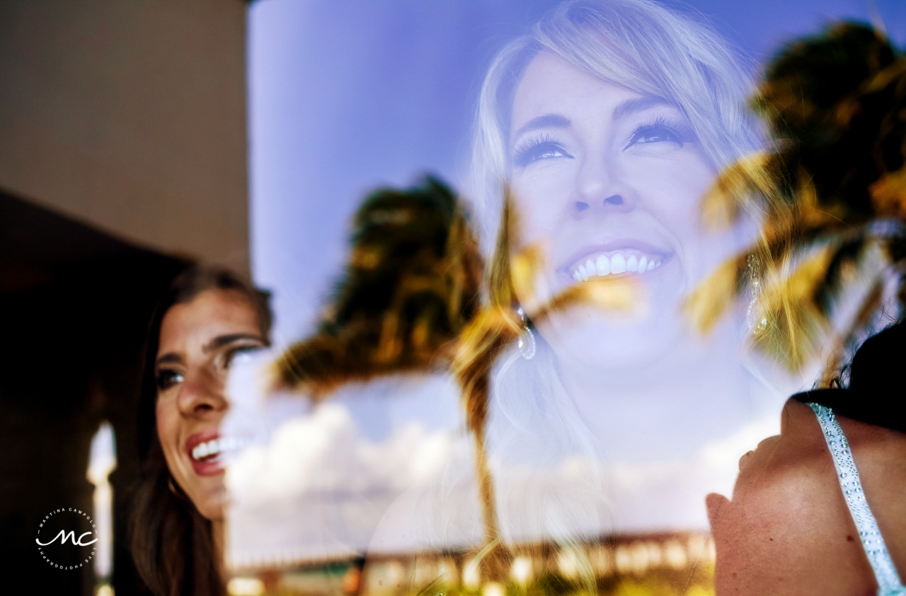 Bridal portrait at The Royal Playa del Carmen, Mexico. Martina Campolo Photography