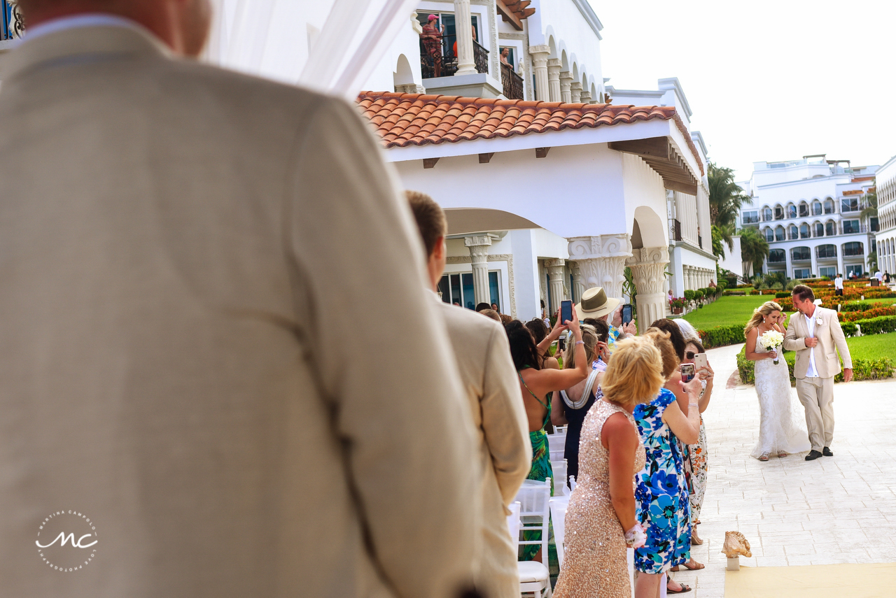 Here comes the bride. The Royal Playa del Carmen Wedding. Martina Campolo Photography