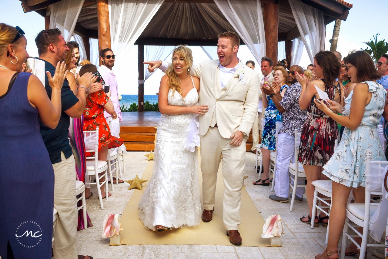 Newlyweds. The Royal Playa del Carmen Wedding. Martina Campolo Photography