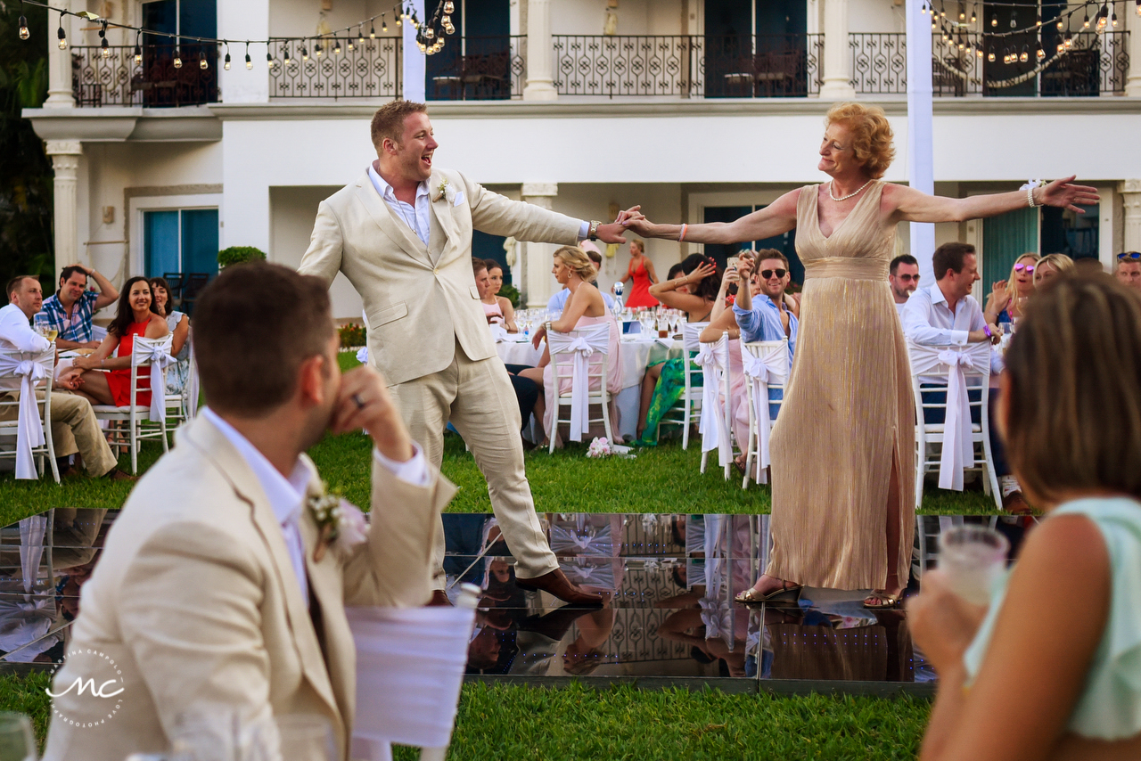 Groom and mother dance. The Royal Playa del Carmen Wedding. Martina Campolo Photography