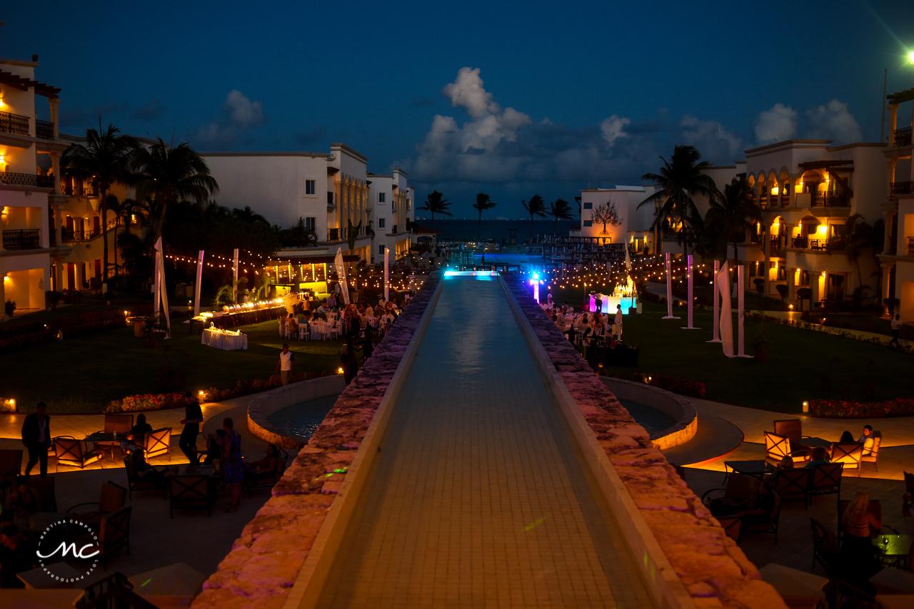 The Royal Playa del Carmen Garden Wedding Reception. Martina Campolo Photography