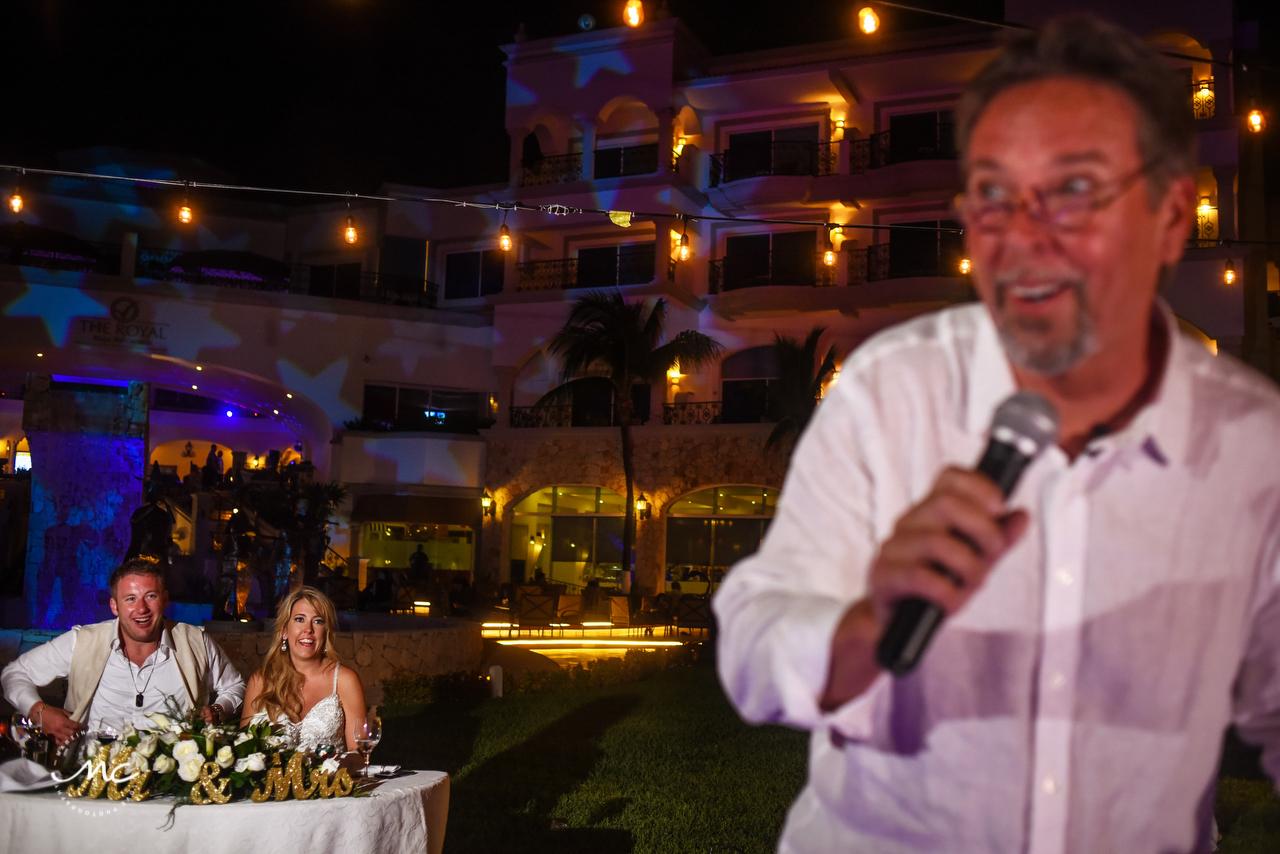 The Royal Playa del Carmen Outdoors Wedding Reception. Martina Campolo Photography