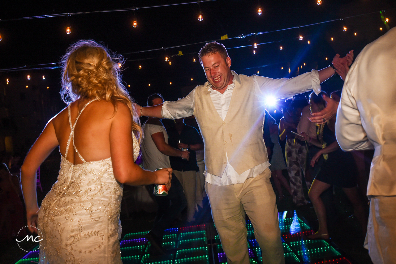 Bride and groom dance. The Royal Playa del Carmen Wedding. Martina Campolo Photography
