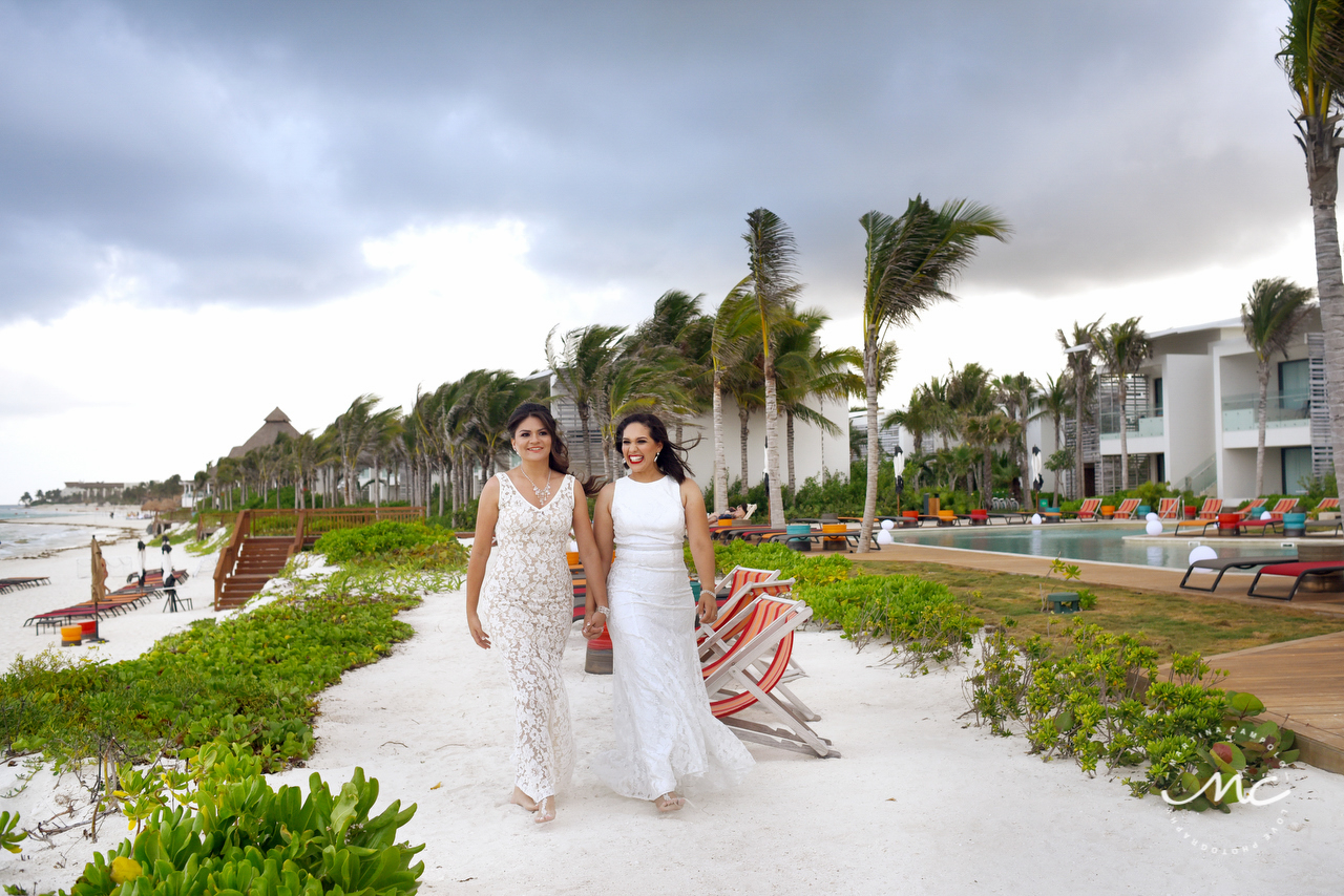 LGBT Wedding at Andaz Mayakoba, Riviera Maya, Mexico. Martina Campolo Photography