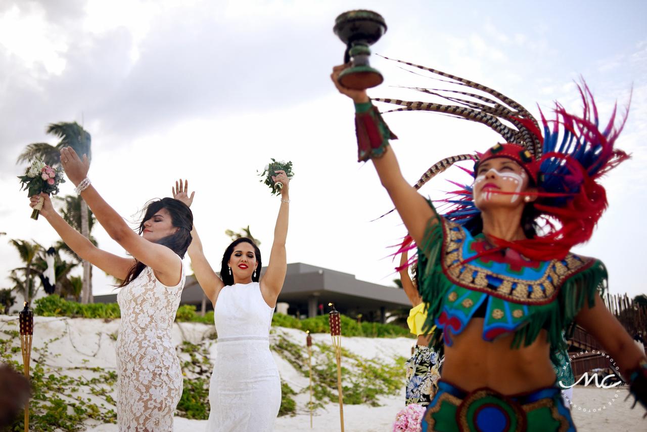 Andaz Mayakoba Mayan Wedding by Martina Campolo Mexico Wedding Photographer