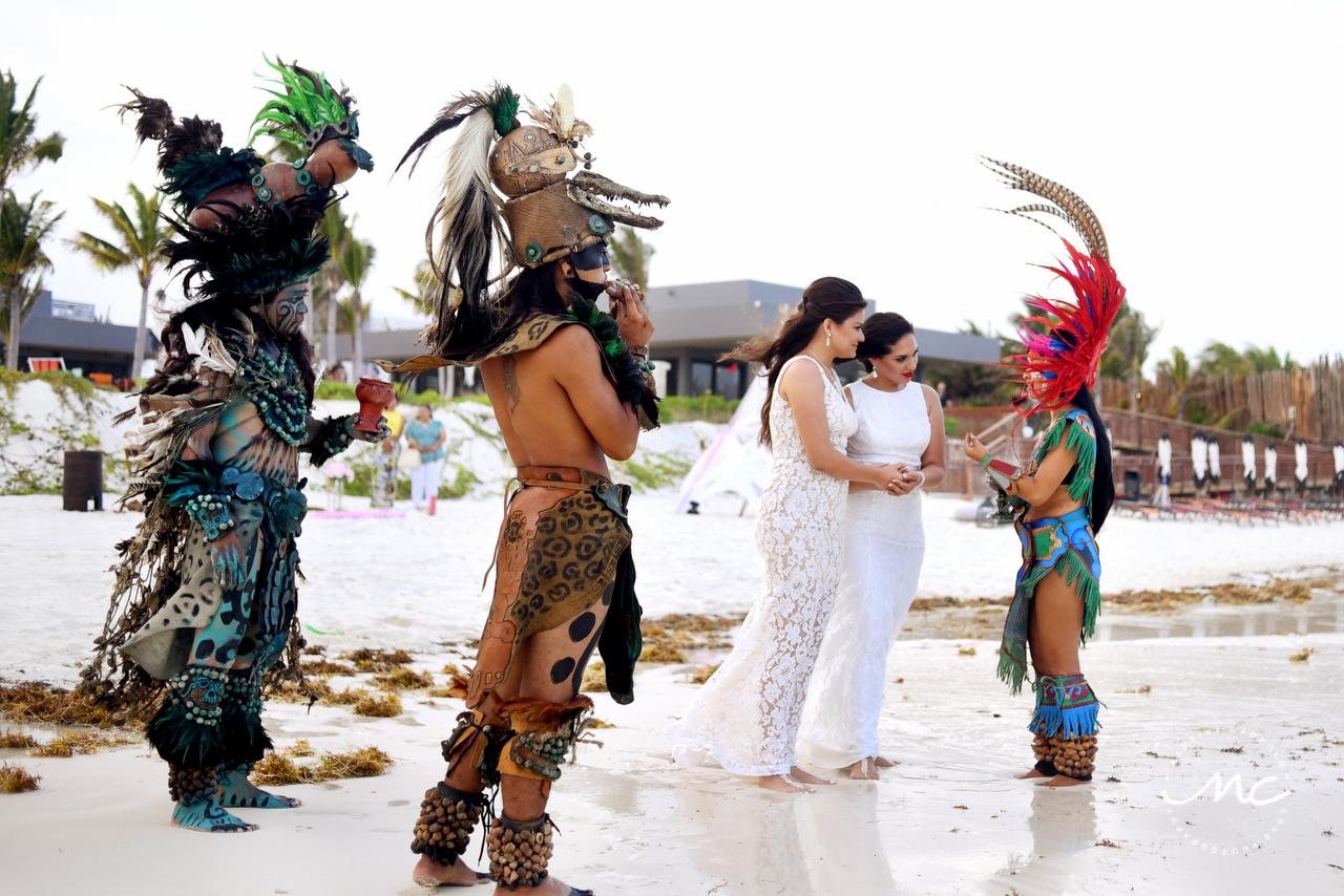 Mayan Wedding Ceremony at Andaz Mayakoba, Riviera Maya, Mexico. Martina Campolo Photography