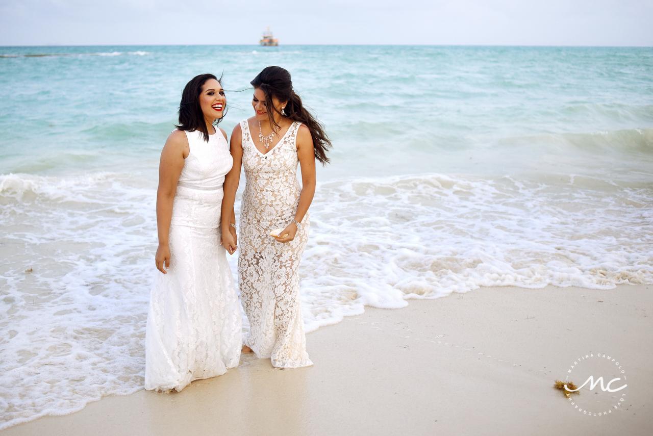 Gay Beach Destination Wedding at Andaz Mayakoba, Mexico. Martina Campolo Photography