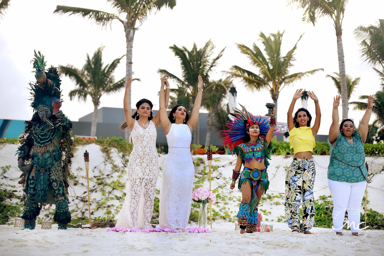 Intimate Mayan Wedding at Andaz Mayakoba. Gay weddings by Martina Campolo Photography