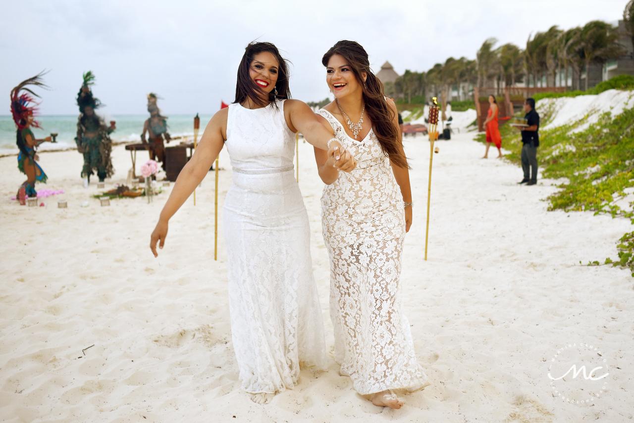 LGBT Wedding at Andaz Mayakoba, Riviera Maya, Mexico. Martina Campolo Photography