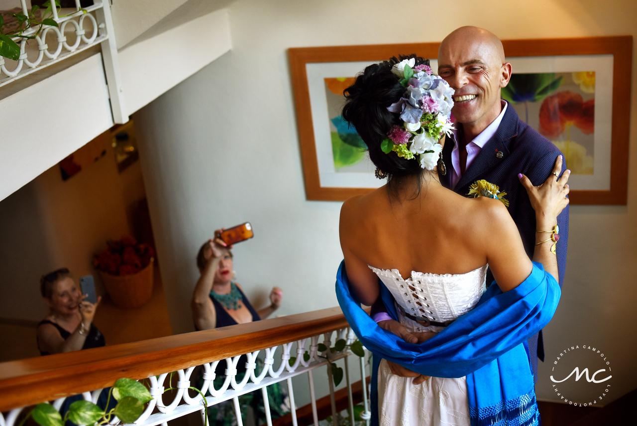 Private Villa Destination Wedding in Puerto Aventuras, Mexico. Martina Campolo Photography