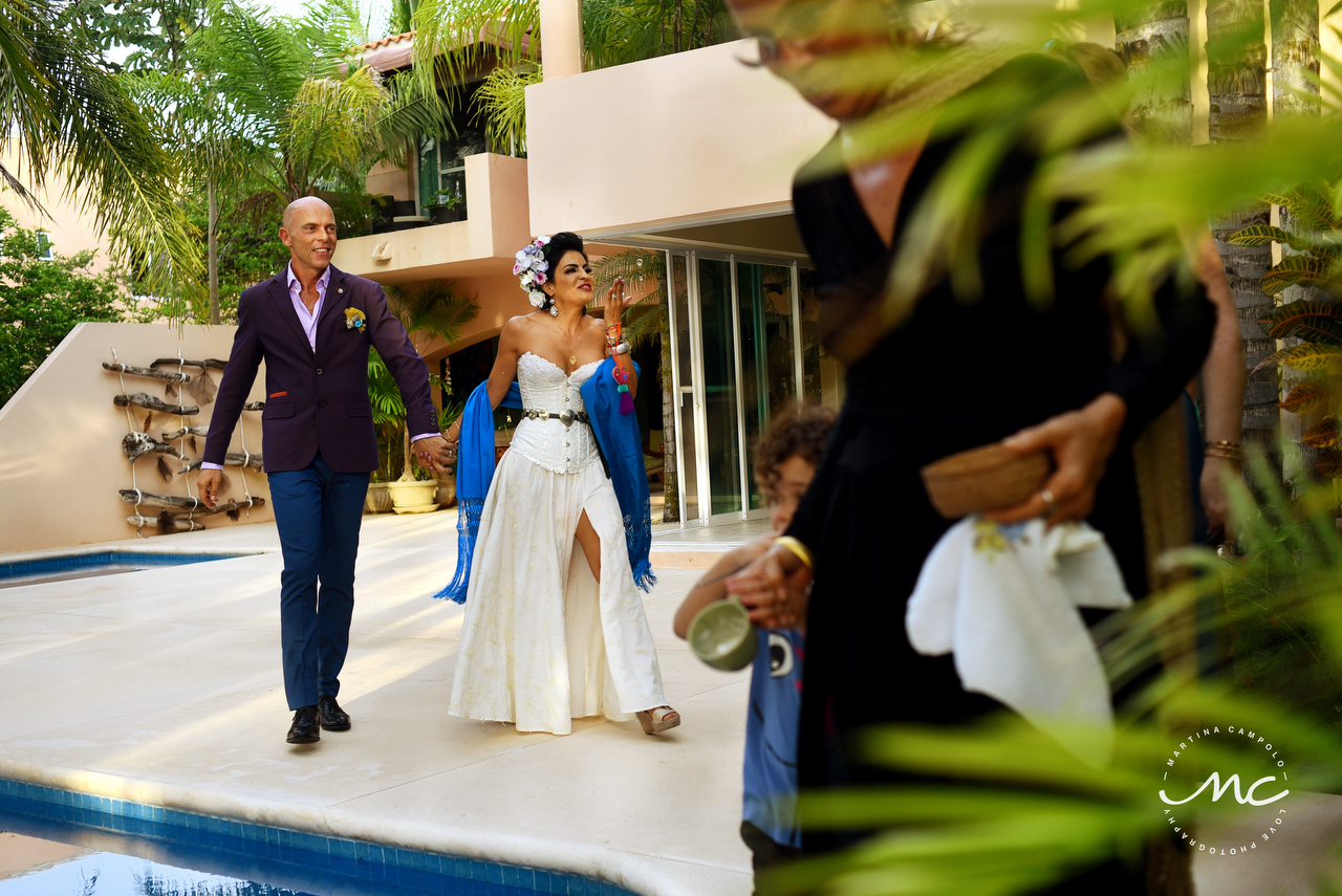 French Groom and Mexican Bride. Puerto Aventuras Wedding by Martina Campolo Photography