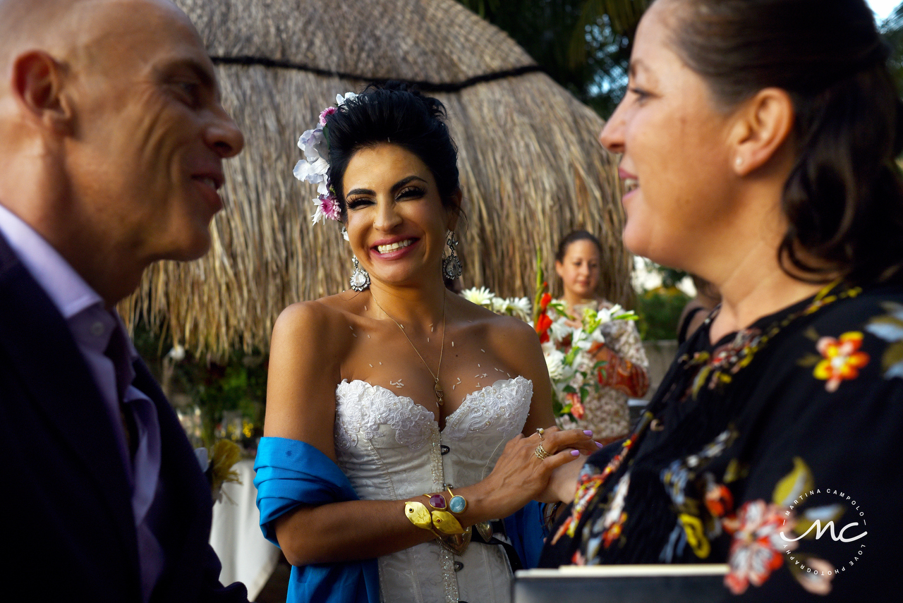 Sol Tamargo, happy bride. Martina Campolo Riviera Maya Wedding Photographer