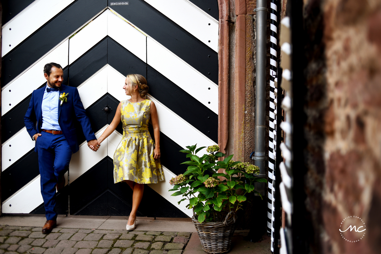Bride and groom portraits, Heidelberg Wedding in Germany. Martina Campolo Photography