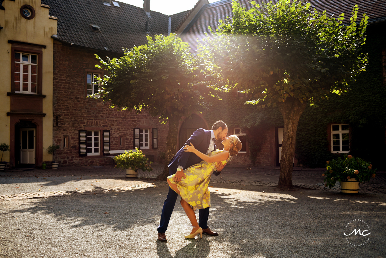 Bride and groom sunset portraits. Wedding in Heidelberg, Germany. Martina Campolo Photography