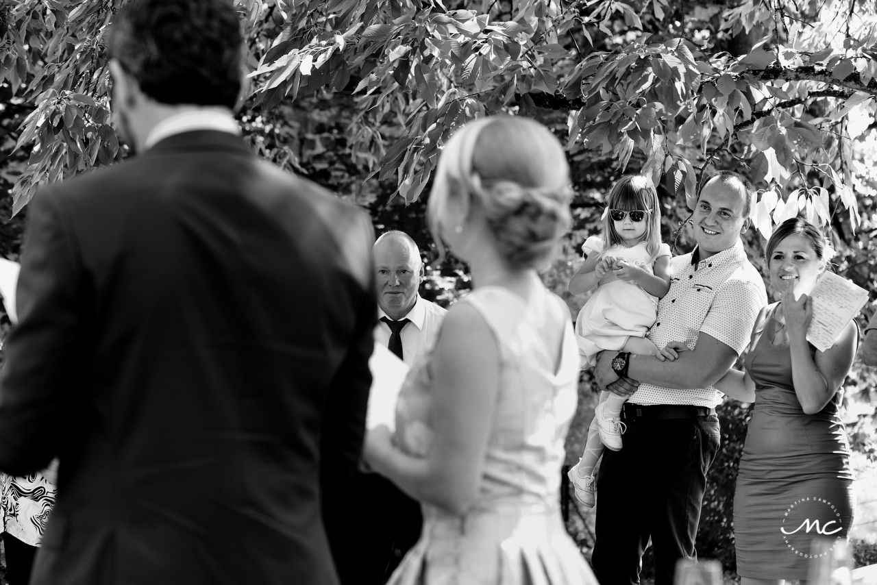Bride and groom speeches. Intimate Heidelberg Wedding in Germany. Martina Campolo Photography