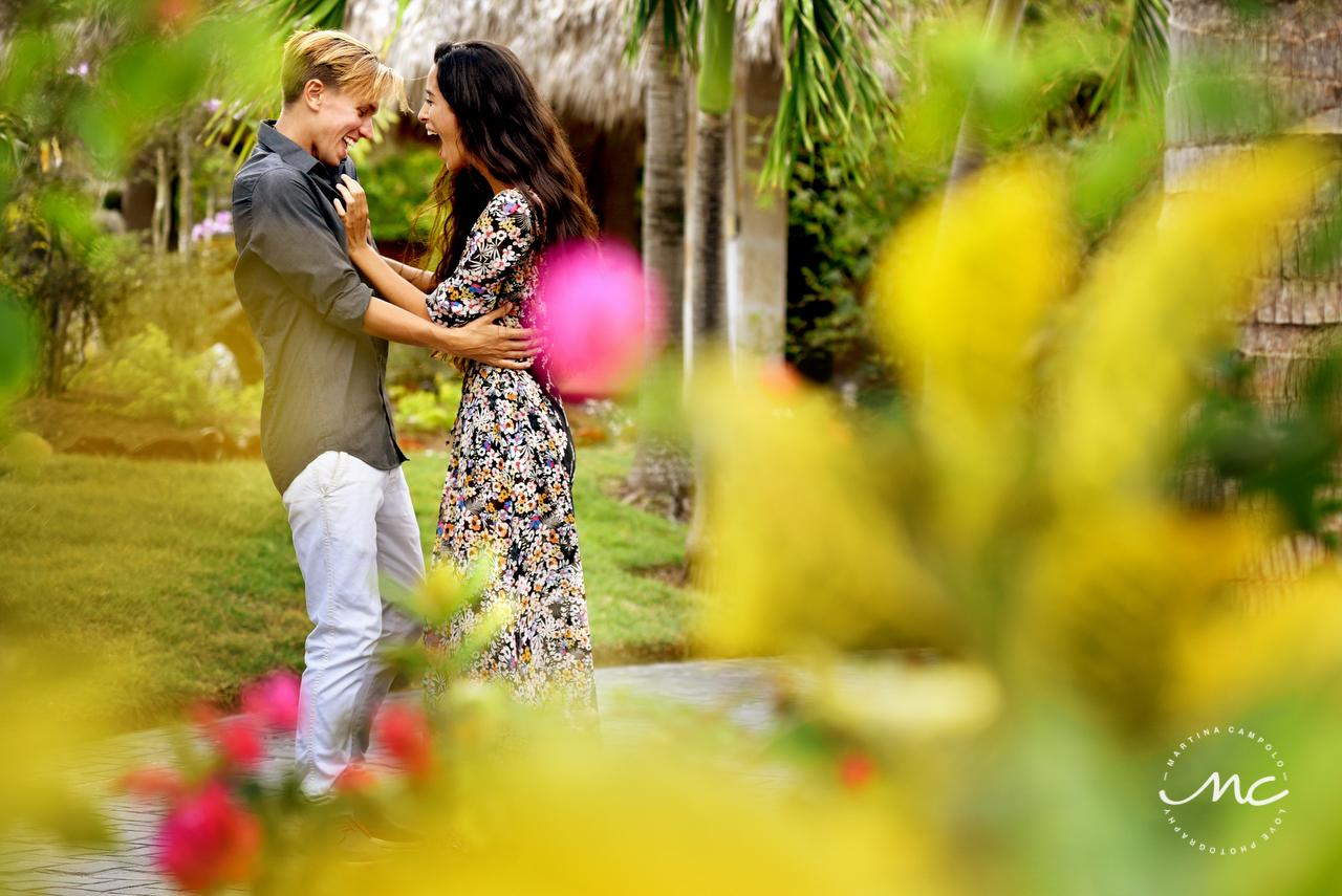 Engagement Photos at Paradisus Palma Real, Punta Cana, DR. Martina Campolo Photography