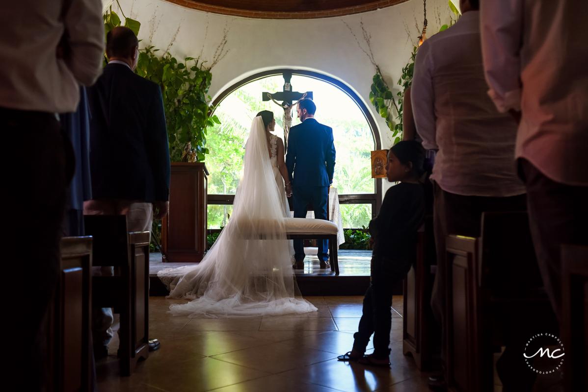 Catholic Church Wedding in Playa del Carmen, Mexico. Martina Campolo Photography