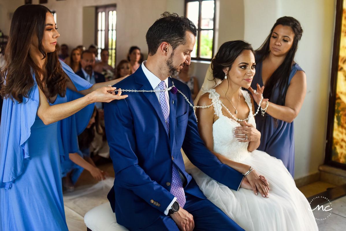 Church wedding in Playa del Carmen, Mexico. Martina Campolo Photography