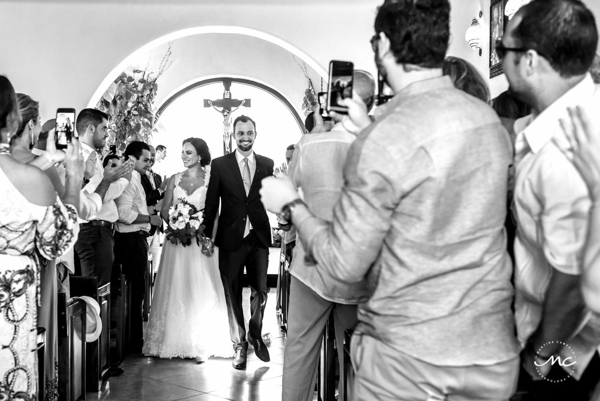 Catholic wedding in Playa del Carmen, Mexico. Martina Campolo Photography
