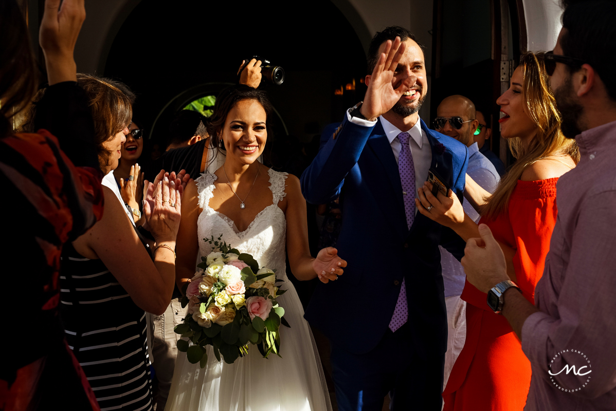 5th Avenue chapel wedding in Playa del Carmen, Mexico. Martina Campolo Photography