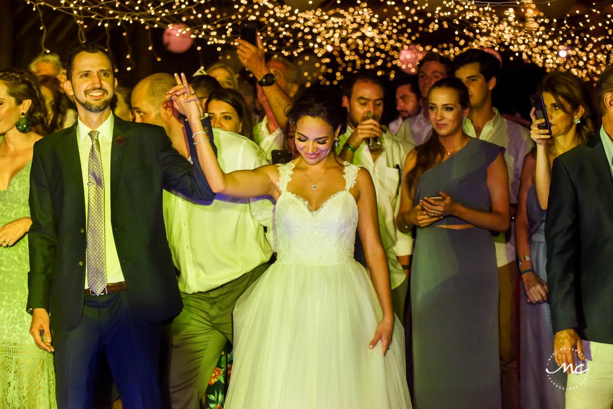 Blue Venado Wedding Reception in Playa del Carmen, Mexico by Martina Campolo Photography