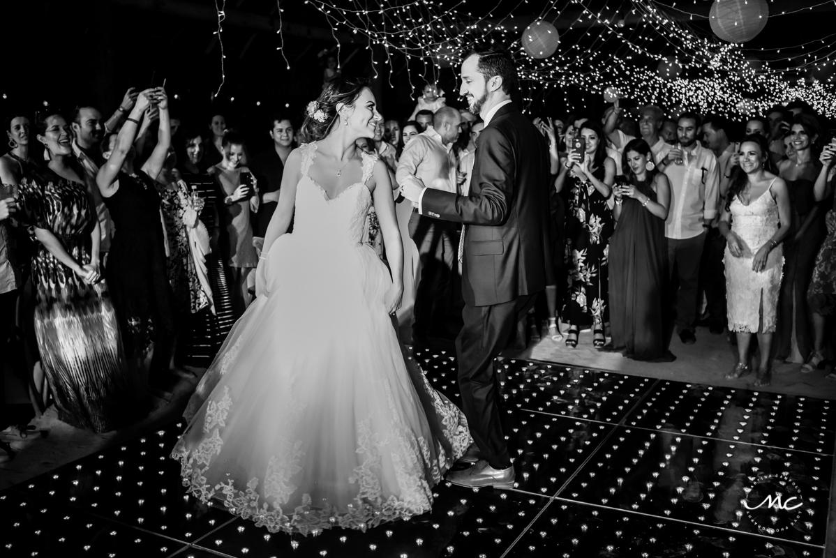 Bride and groom first dance. Blue Venado Wedding in Mexico by Martina Campolo Photography