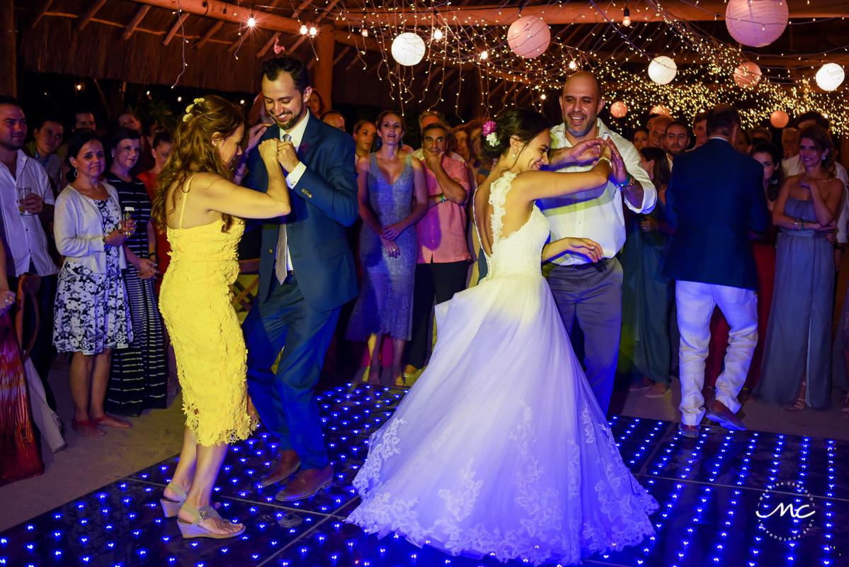 Bride and groom dance. Blue Venado Wedding in Mexico by Martina Campolo Photography
