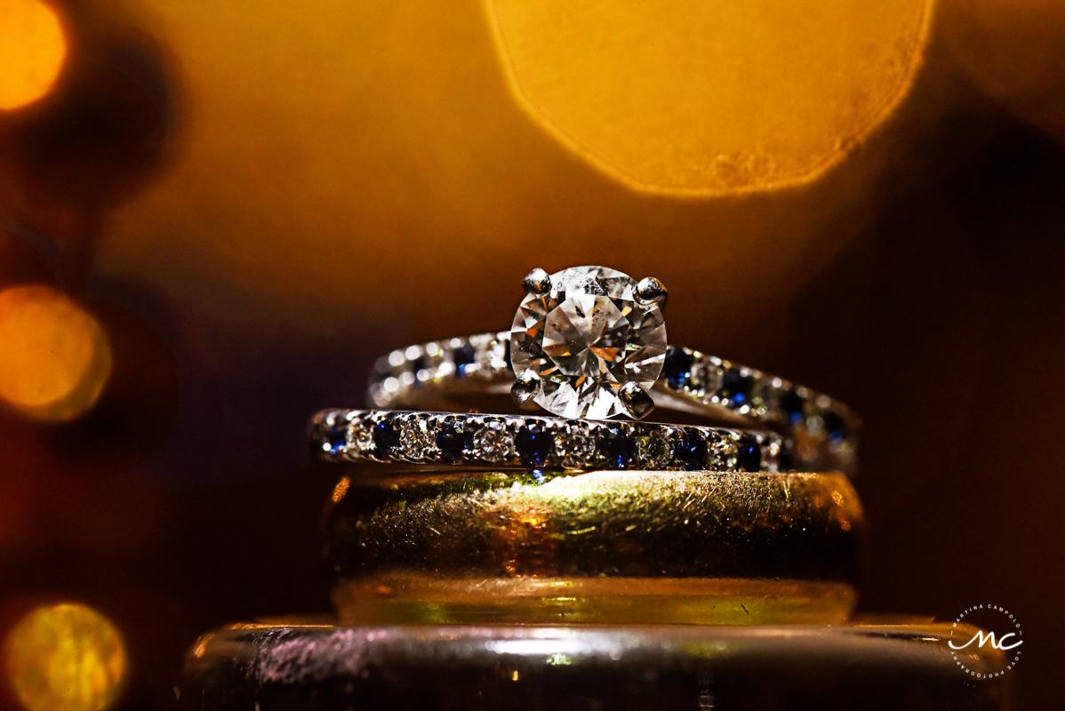 Wedding rings by Martina Campolo, Blue Venado Wedding Photography in Mexico