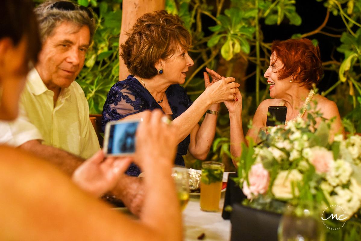 Wedding Reception at Blue Venado Beach Club in Mexico. Martina Campolo Photography