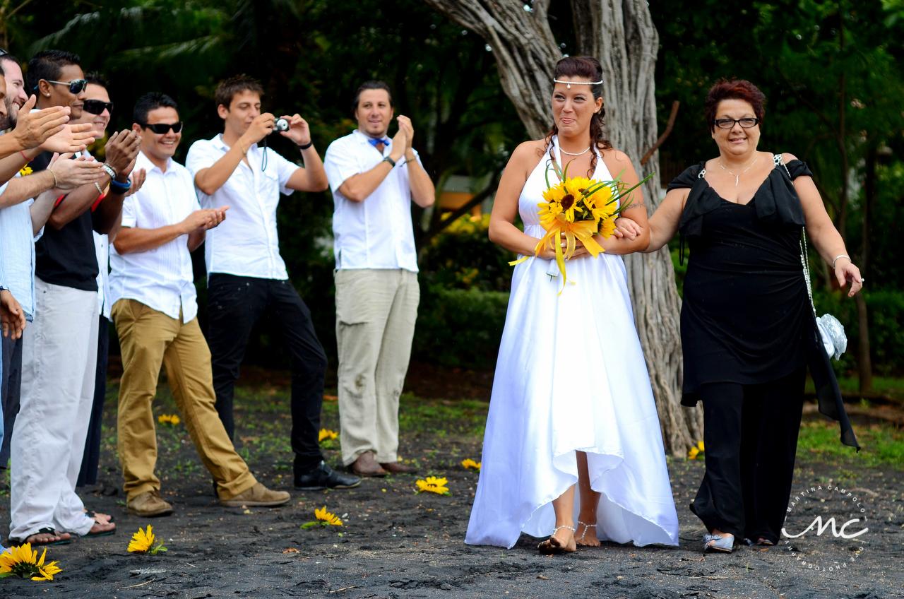 Here comes the bride. Costa Rica Beach Destination Wedding. Martina Campolo Photography