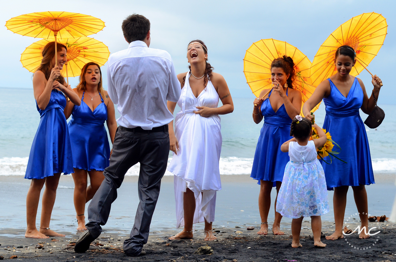 Bridal Party beach portraits in Guanacaste, Costa Rica. Martina Campolo Photography
