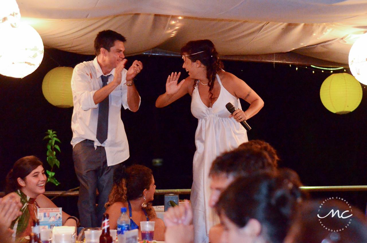 Wedding reception at Beach Bums, Costa Rica. Martina Campolo Photography